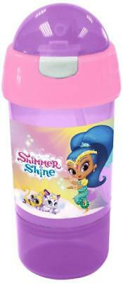 Shimmer And Shine Drink Cup Bottle Sip N Snack Kids Girls Lunch Box School Food