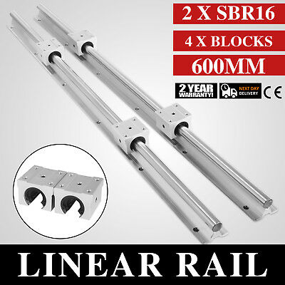 SBR16-600 mm 2 x Linear Rail 4 x Bearing Block Square Type Linear Rail Routers