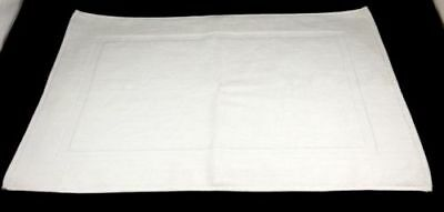 Terry Toweling White Bath Mat 100% Cotton 700Gsm
