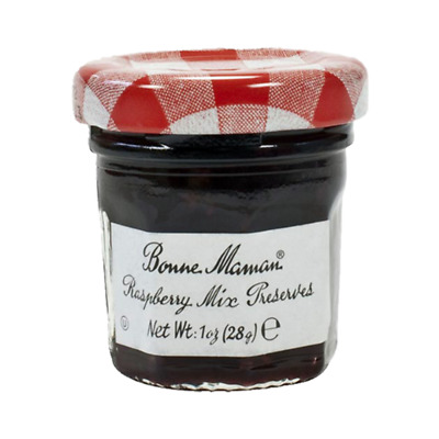 15 x Mini Jars - Bonne Maman Raspberry Mix Preserves 30g