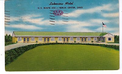 Vintage Postcard--1953--Lakeview Motel--Us Rt.224--Berlin Ohio