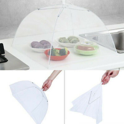 6x Large Collapsible Mesh FOOD COVER Dome Pop Up Plate Umbrella Fly Wasp Net AU