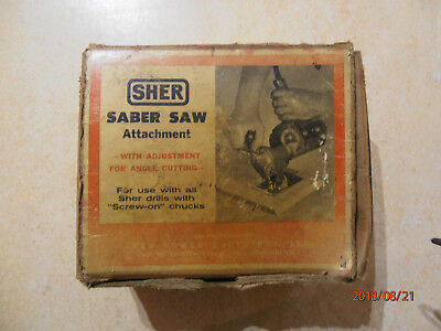 Vintage Tool - Sher Saber Saw Attachment - Original Box - Made In Collingwood Vi