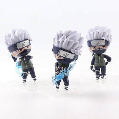 3 Pcs/Set Naruto Shippuden Hatake Kakashi Q Version PVC Action Figure Model Toy