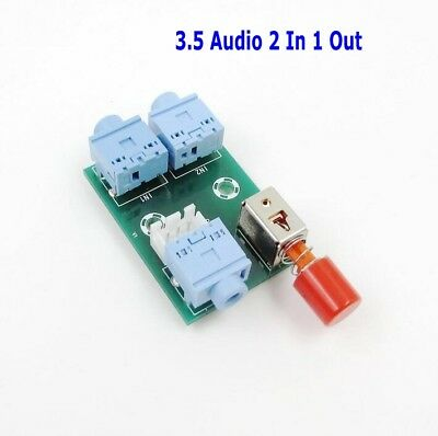 XH-M371 Audio Socket Switching Module 3.5 Audio 2 In 1 Out Switch Board Module
