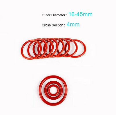Silicone O-Ring 16/18/20/22/24~45mm OD 4mm Cross Section Seal Washer 20/100Pcs