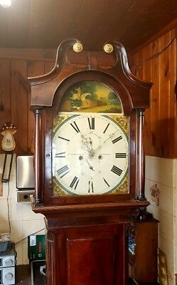 A Georgian 8 day Antique Mahogany Longcase Tallcase Grandfather Clock C1830