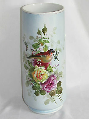 06C60 ANTIQUE VASE LIMOGES PORCELAIN B & Co BERNARDAUD DECORATION FLOWERS BIRDS