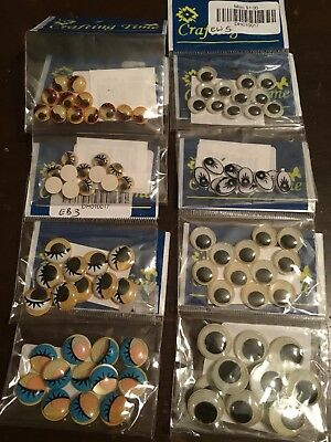 Crafting Time Glue On Plastic Craft Wiggle Eyes Choice Of 8 Different Types