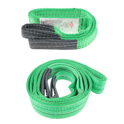 Flat Lifting Sling Towing Pulling Strap Rope Polyester 1m 1t & 3 Meter 2ton