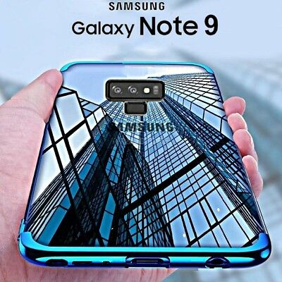 COVER per Samsung Galaxy Note 9 CUSTODIA ORIGINALE ELECTROPLATING Slim TPU Case