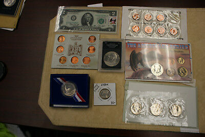 Lot OF Misc US Coins & Coin Set's 40% Silver In 1 Set