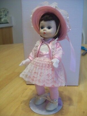 """VINTAGE MADAME ALEXANDER 8""""  BKW DOLL TAGGED """"COLLECTING DOLLS""""  with gloves"""
