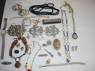 Good Lot Collection Of Antique / Vintage Costume Jewellery 31 Pieces £3.50 Item