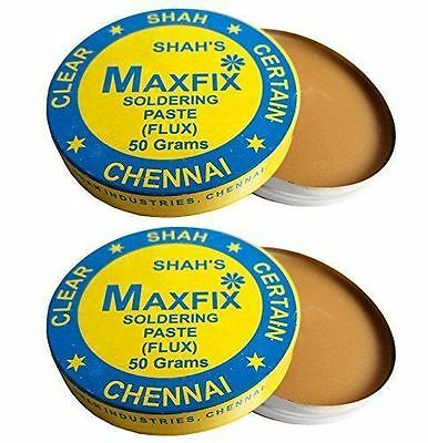 MAXFIX ROSIN SOLDERING PASTE (FLUX)-Pack of 2- 50g FOR ELECTRIC AND ELECTRONIC U