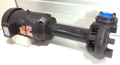NEW! Gusher 11025-LONG Coolant Water Pump 5HP Motor 230V 460V 3 Phase 3450 RPM
