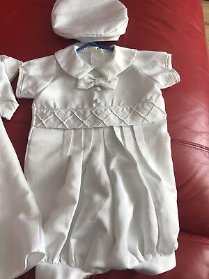 baby boys christening outfit 6mths