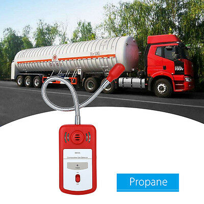 Combustible Gas LP Gas Leak Detector Sniffer Tester w Sound Light Alarm Portable