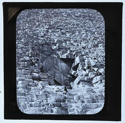 Pyramids Egypt / Original Glass Magic Lantern Slide / Photograph