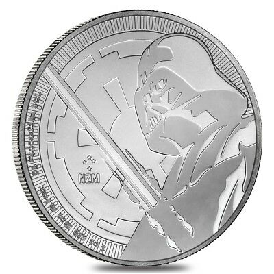 2018 1 oz Niue Silver $2 Star Wars Darth Vader BU