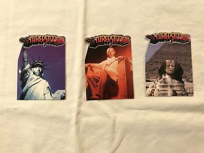 1997 DuoCards The Three Stooges Die-Cut Trading Card Chase Set of 3 SEE DESC