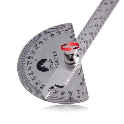 Angle Ruler Round Head Rotary Protractor Adjustable Universal Measuring Tool