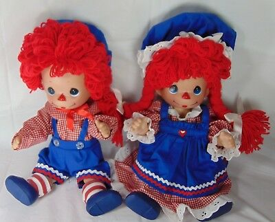 Precious Moments Raggedy Ann and Andy Dolls