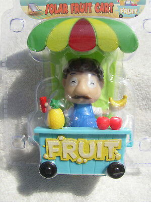 New 2018 Solar Tropical Fruit Stand Dancing Bobble Head Car Auto Toy Ships Free!
