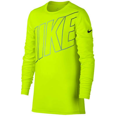 New Nike Boys Base Layer Training Yellow Shirt Choose Size MSRP $30.00