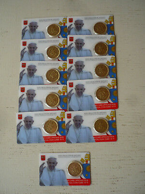 Coincards  N°9  50 Cts Vatican 2018