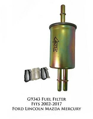 Lot of 3 Fuel Filter  F65472 G9343 Fits Ford Lincoln Mazda /& Mercury