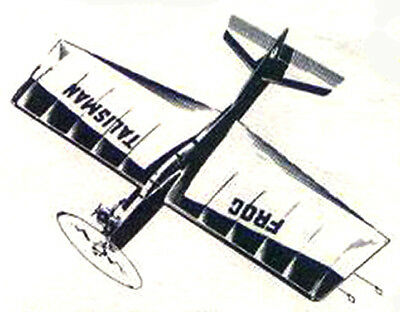 "Model Airplane Plans (UC): Talisman 28"" for 1-2cc (.06-.12ci) Engines (FROG)"