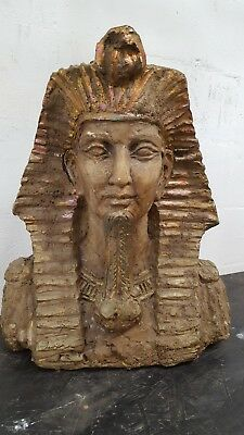 King Tut of Ancient Egypt  Statue -  Bust, wall art, collectible