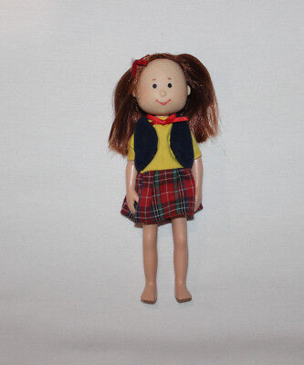 """1998 Madeline And Friends Chloe Poseable Doll 8"""" used"""
