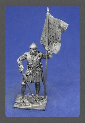 "Tin soldiers Middle Ages""(54 mm,1/32) # M 166 German infantryman with the banner"