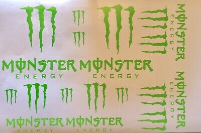 12x Monster energy stickers decals car bike moto x stickers