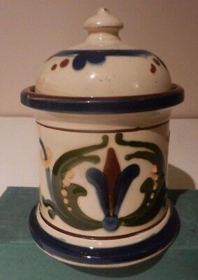 Torquay Pottery Tobacco Jar With Scandy Design - Unmarked Longpark?