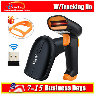 2 in 1 2.4G Wireless Wired Barcode Scanner Handheld Scanning 1D Bar Code Reader