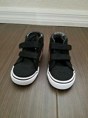 Vans SK8 MID REISSUE V Canvas and Leather Black Toddler Boy Shoes Size 9 cec640d11123