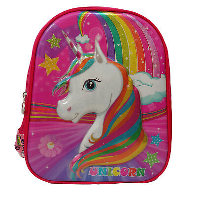 3D Pop Up Unicorn Backpack School Bag Children Bookbag Kids Bag