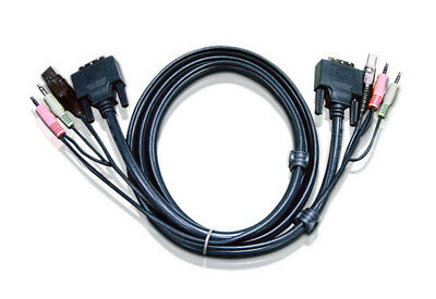 Aten 2L7D03U KVM cable Black 3 m