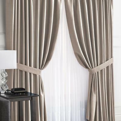 "Antique Satin Pinch-Pleated Drapes- Pair 144"" x 84"""