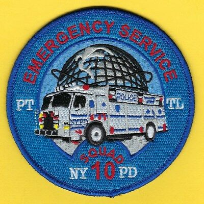 New York City Police Department Emergency Service Truck 10 Patch ~ Queens