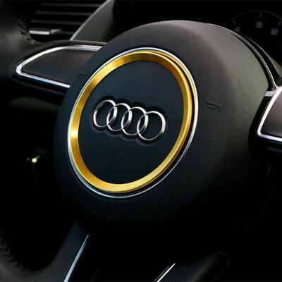 Gold Car Steering Wheel Center Decoration Ring Cover for Audi A3 A4L Q3 Q5 A5 A7