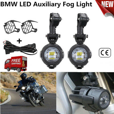 2x Spot Auxiliary Fog LED Light Driving Safety Lamp Motorcycle For BMW R1200GS