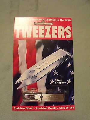 Uncle Bill's Sliver Gripper TWEEZER, Keychain - Made in USA - EDC/Survival Tool