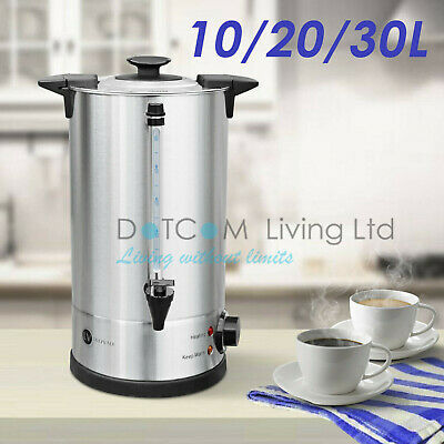 Electric Stainless Steel Catering Water Boiler Tea Urn Commercial 10/20/30 Litre