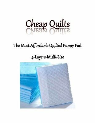 """900-17x24"""" Puppy Pads Cheap Quilts 4-Layers up to 3'x use FREE DELIVERY"""
