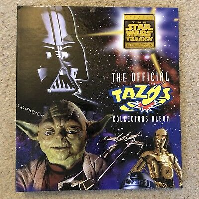 Star Wars Official Tazos Album - With Paper Inserts, No Sleeves