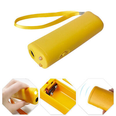 New Ultrasonic Dog Chaser Stop Aggressive Animal Attacks Repeller Flashlight 1pc